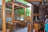 Алушта частный сектор  двор с кухней